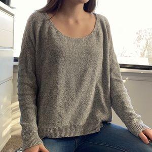 loose heather gray sweater
